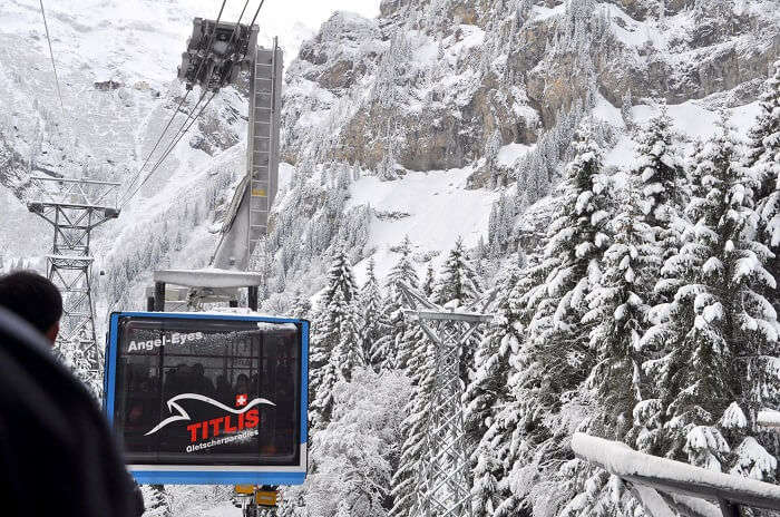 The cable car ride in Mt. Titlis