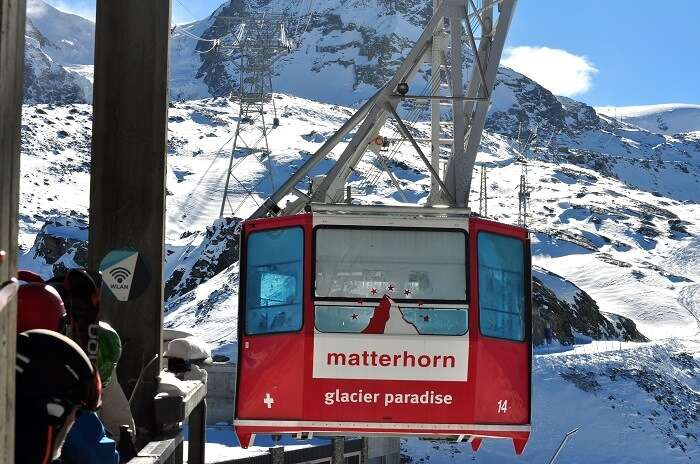 Cable car ride in Mt Matterhorn