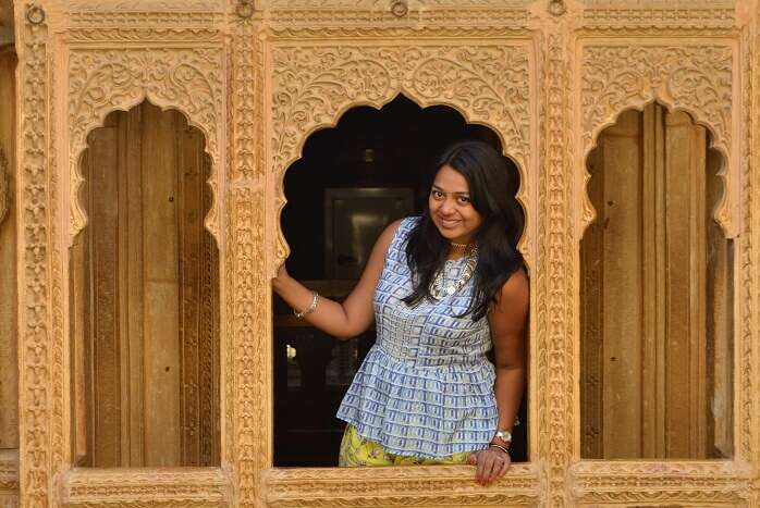 Anusha in a Fort in Jaipur