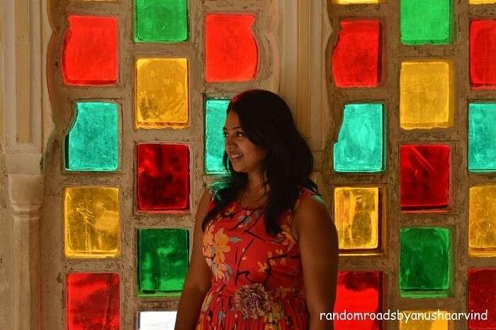 Anusha in City Palace in Jaipur