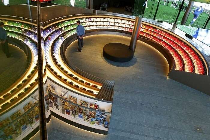 The new world famous FIFA museum in Switzerland