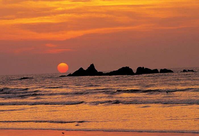 The sunsets are spectacular from Hawah Beach - one of Kovalam's key tourist places