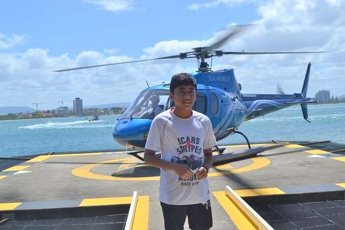 Helicopter Ride at Sea World