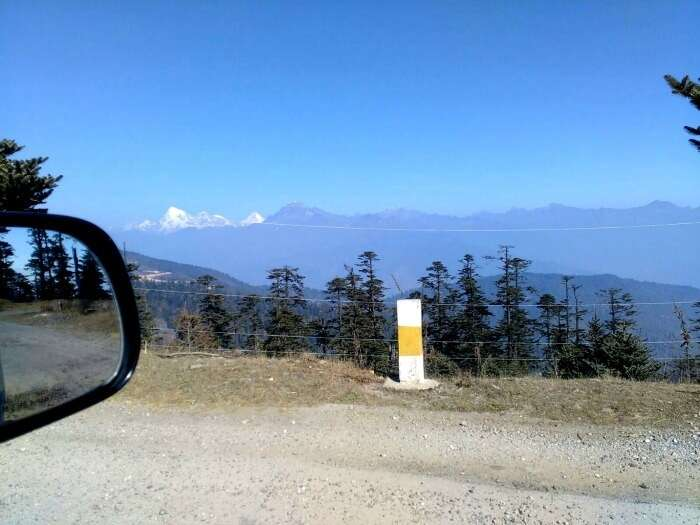 Winding through the hilly roads with stunning views in Bhutan