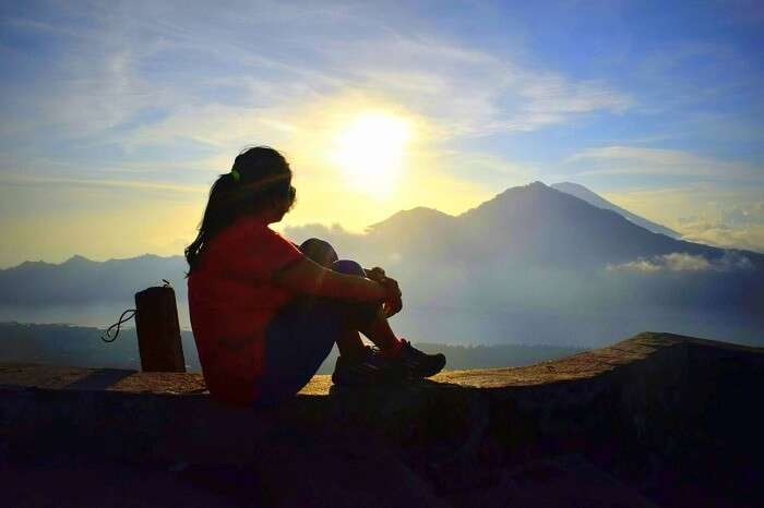 Sunshine from the top of Mount Batur