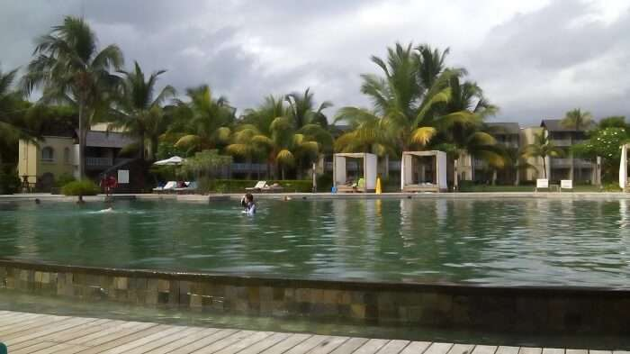 Pool in Outrigger Beach Resort in Mauritius