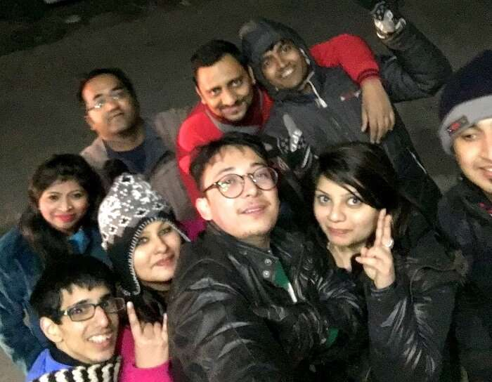 Fun on the roads of Manali at the New year's eve