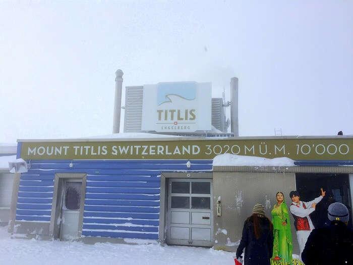 Sameer at Mt Titlis in Switzerland