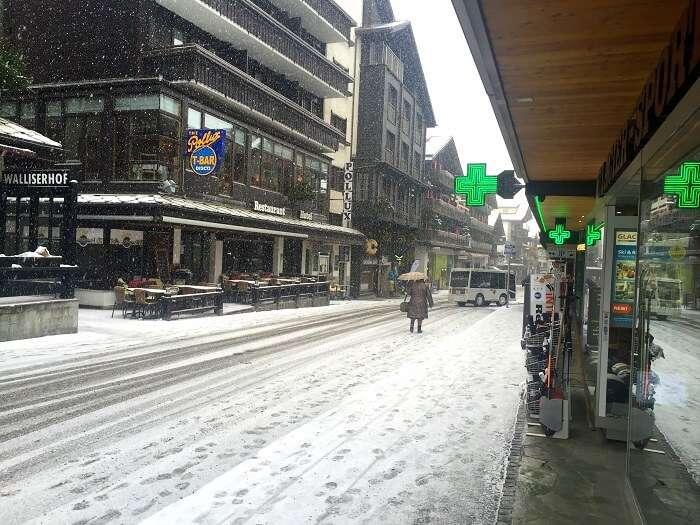 A street in Zermatt