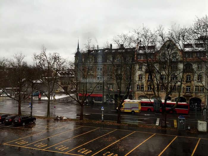 A wet day in Zurich