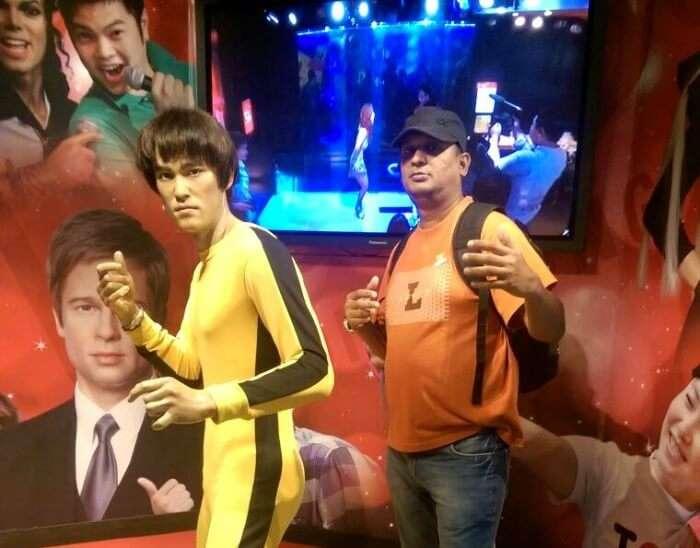 Fooling around in Madame Tussauds Hong Kong