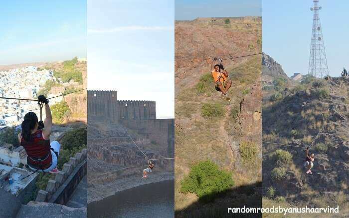 Ziplining in Mehrangarh Fort