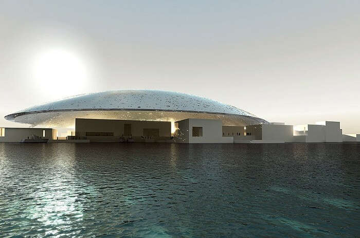 The museum in Abu Dhabi