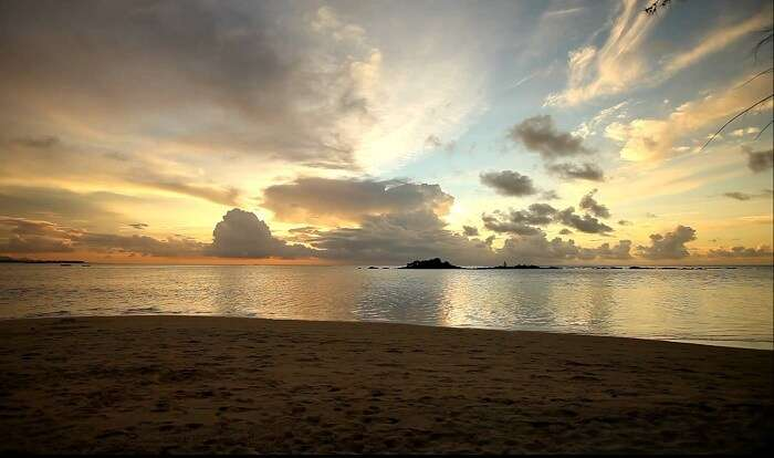 The beautiful sunsets at Mont Choisy Beach in Mauritius are worth looking