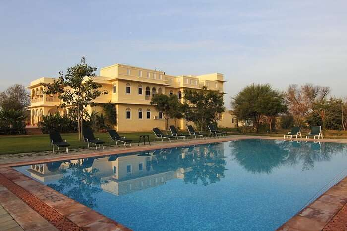 Swimming pool at Nahargarh Haveli