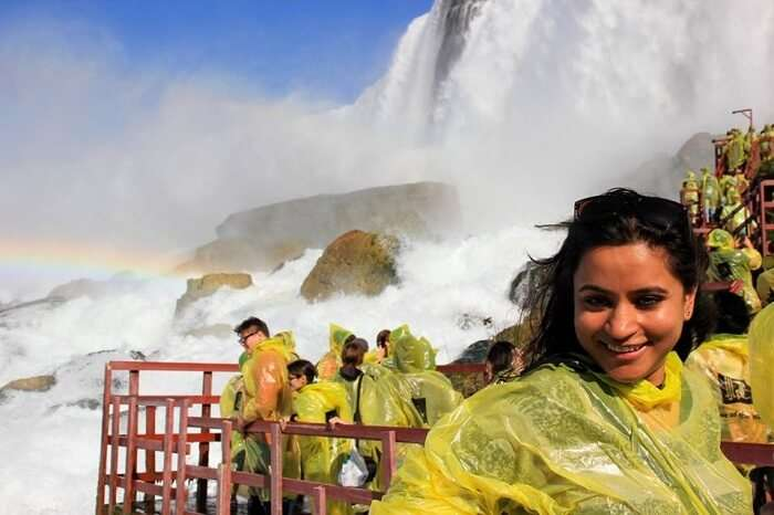 Leena at the Niagara Falls in Canada