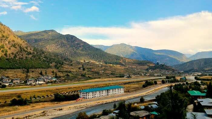 Beautiful Paro Airport