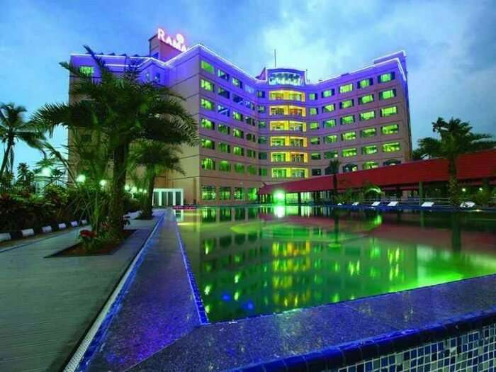 Ramada resort is near the backwaters of Punnamada lake