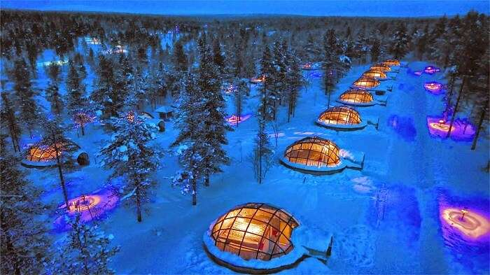 The Village hotel boasts of 20 thermally insulated Glass Igloos