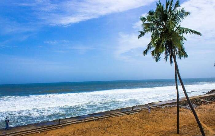 Samudra Beach is considered to be one of the least crowded places to visit in Kovalam
