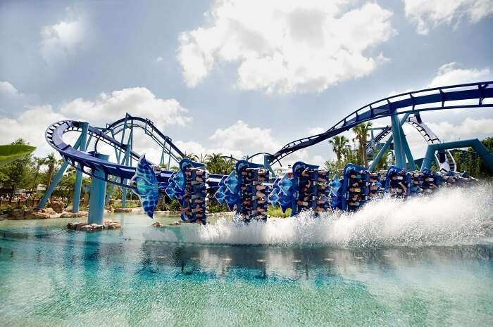 The new roller coaster in SeaWorld