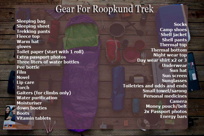 Things to carry on an extensive trek to Roopkund