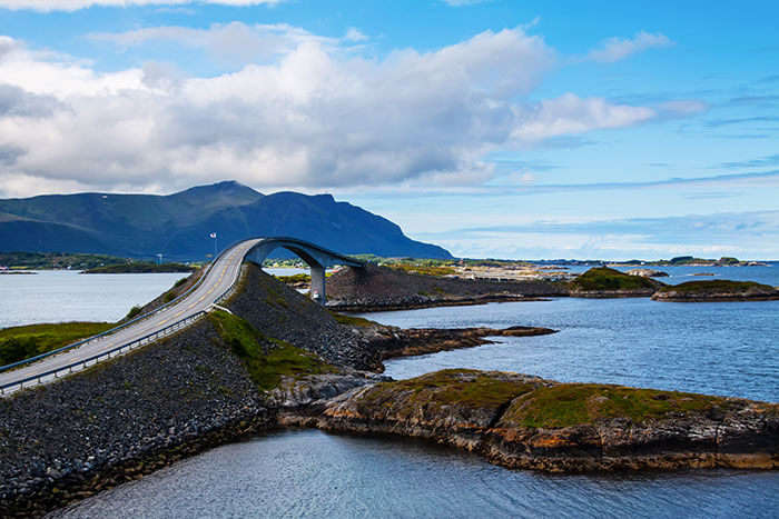 The interesting turns and roller coaster bridges of Atlantic Ocean Road make for a fun ride