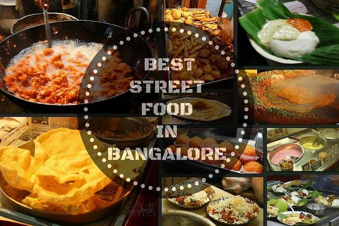 A platter of the street food in Bangalore