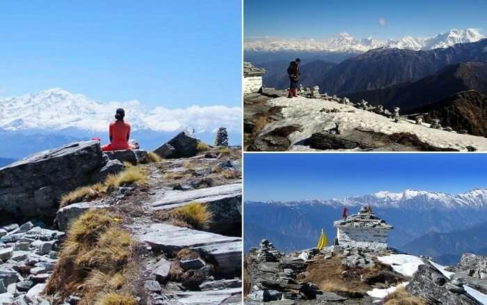 Snap-shots of different trekkers on a Chopta-Chandrashila winter trek