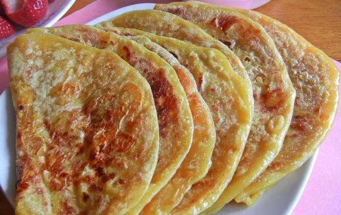 The sweet Dal Obbattu that is a popular street food in Bangalore