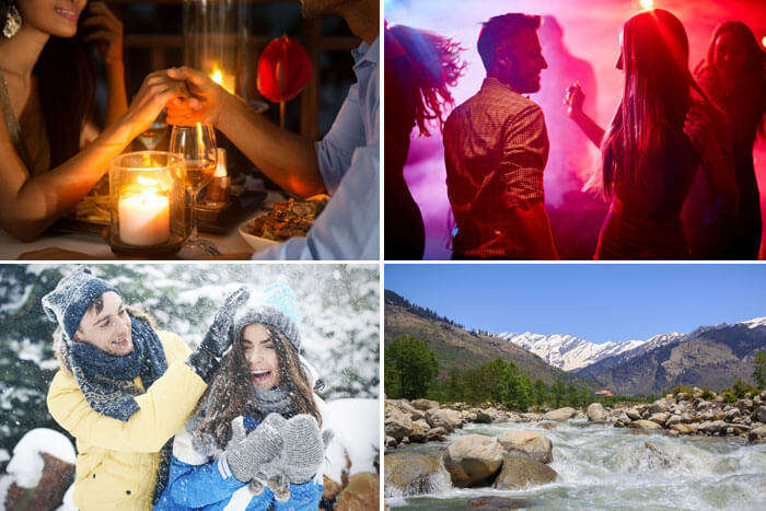 day 1 of valentine getaway with rohtang, candle light dinner and disco party