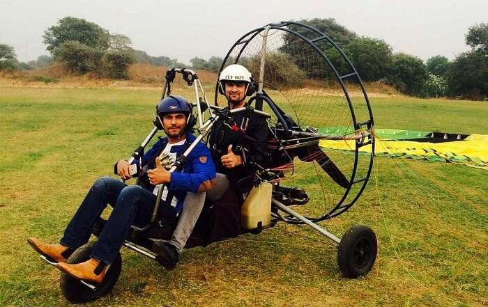 Popular Bollywood actor Randeep Hooda gets ready for an air safari