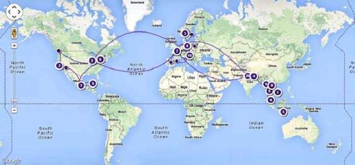 missWalkingShoes travel map image