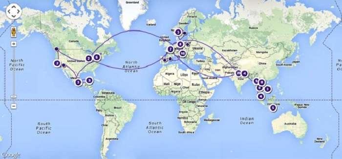missWalkingShoes travel map image