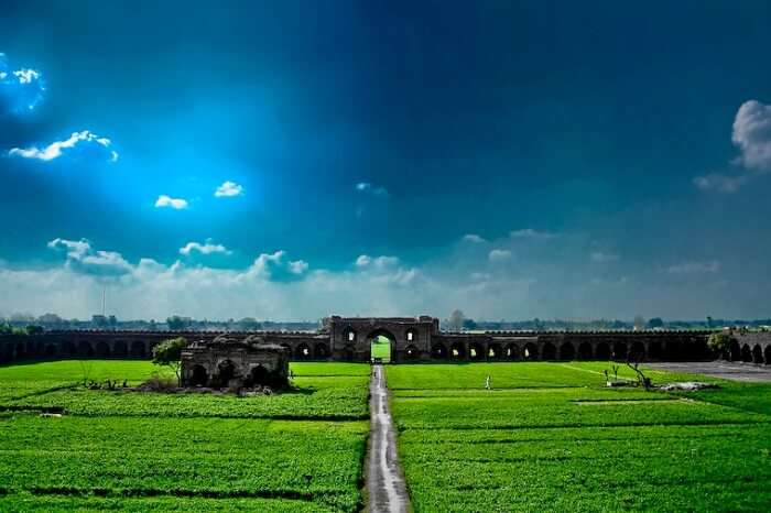 A beautiful morning shot of the RDB Fort that is one of the best places to visit near Chandigarh