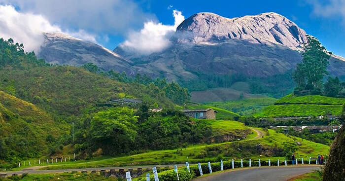 A snap taken from Munnar of the beautiful landscape of the surroundings