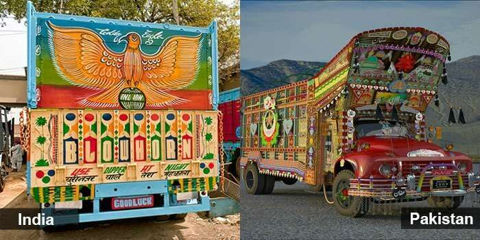 The trucks of India and Pakistan reflect our love for art