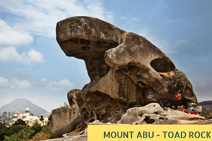 The intriguing Toad Rock at the beautiful Mount Abu