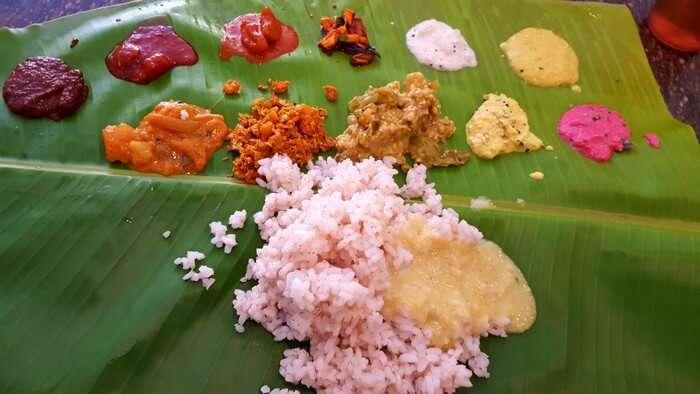 Traditional cuisine of Kerala