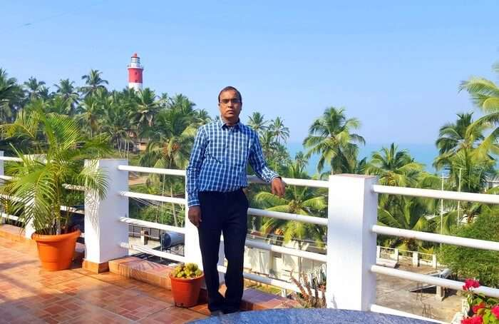 Mohan at his resort in Kerala