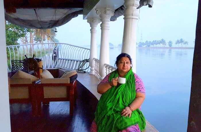 Mohan's wife at the houseboat