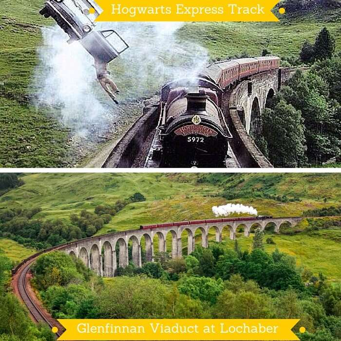 The track used for all shots of Hogwarts Express