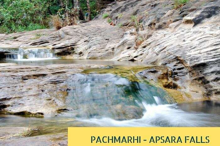 The beautiful waterfalls at Pachmarhi - one of the summer holiday destinations in India