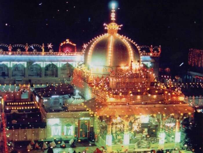 Ajmer Sharif Dargah decorated during Eid is another important place to see in Rajasthan