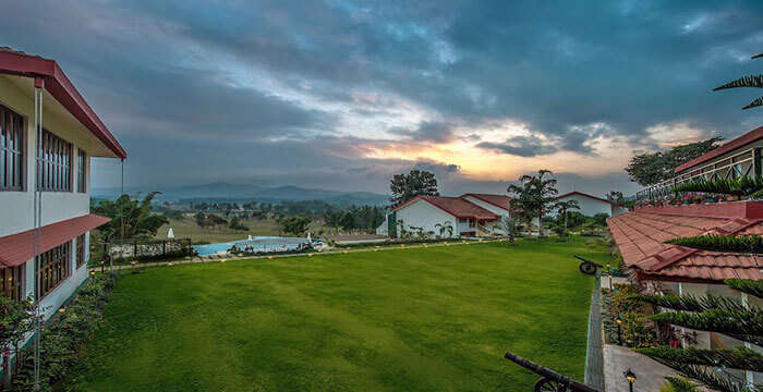 The famous resort in Coorg amidst lush green beauty