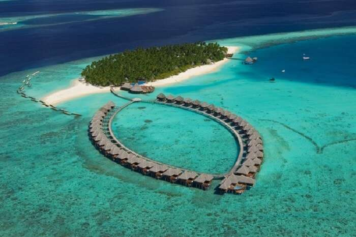 The banana shaped Banana Reef is among best places to visit in Maldives