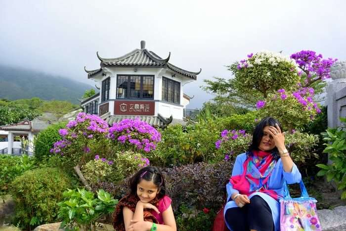 Shamika and her mother at the Lantau Island