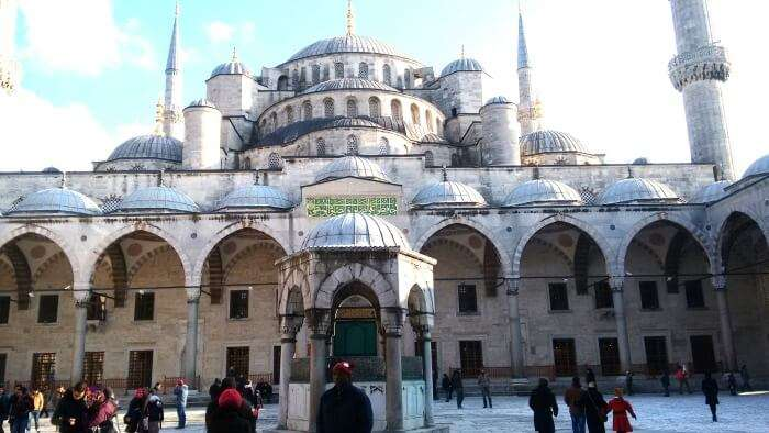 The beautiful Blue Mosque in Turkey