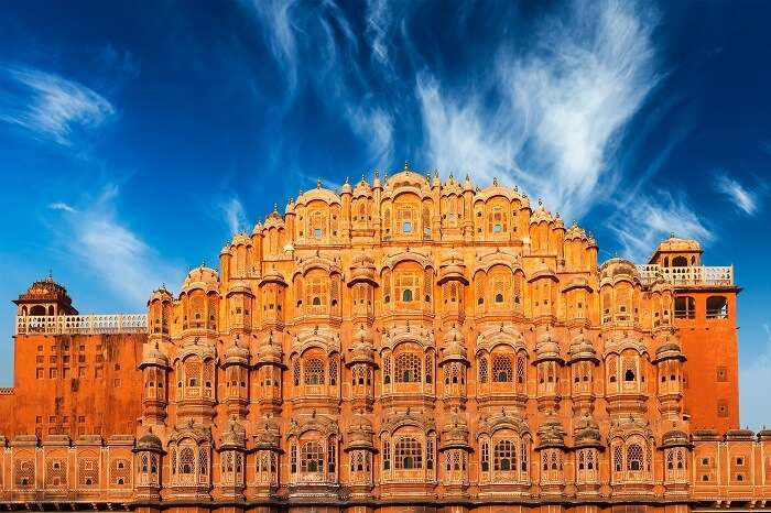 Hawa Mahal Palce is one of the most visited places in Rajasthan