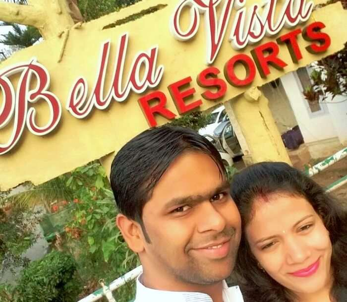 Vishu and Prachi at their Resort in Kerala